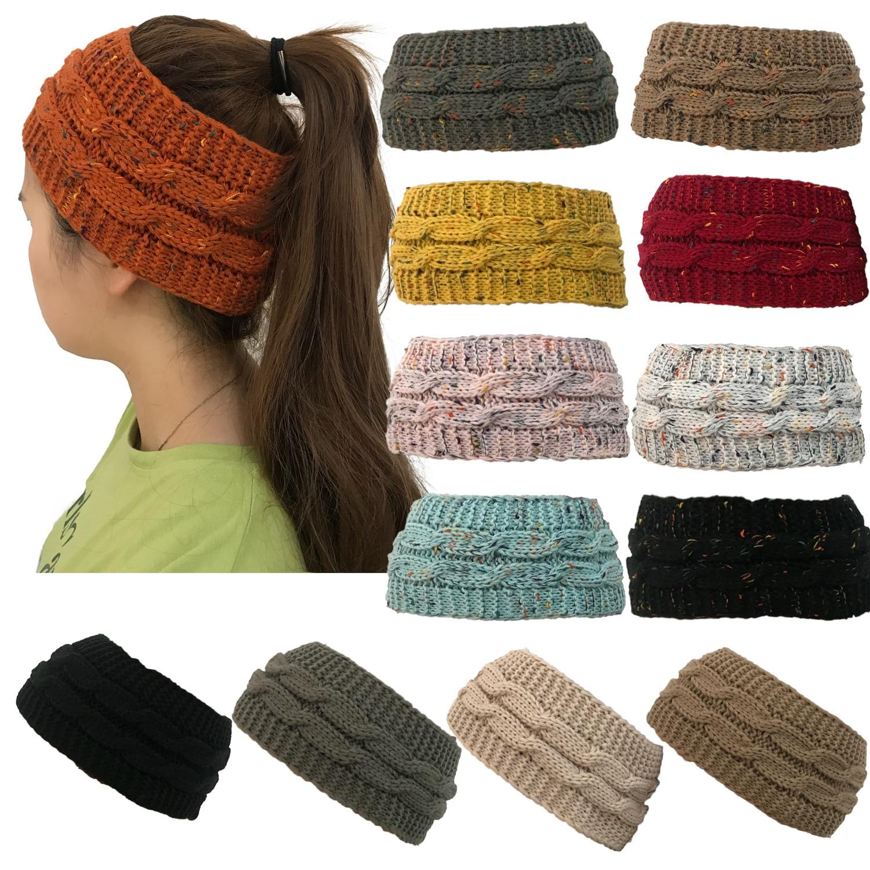 Ponytail   Beanies   Women Warm Winter Hat For Women   Beanie   Knitted Head Wear Bun Hats Girl Skull Cap Bonnet Headwear czapki zimowe