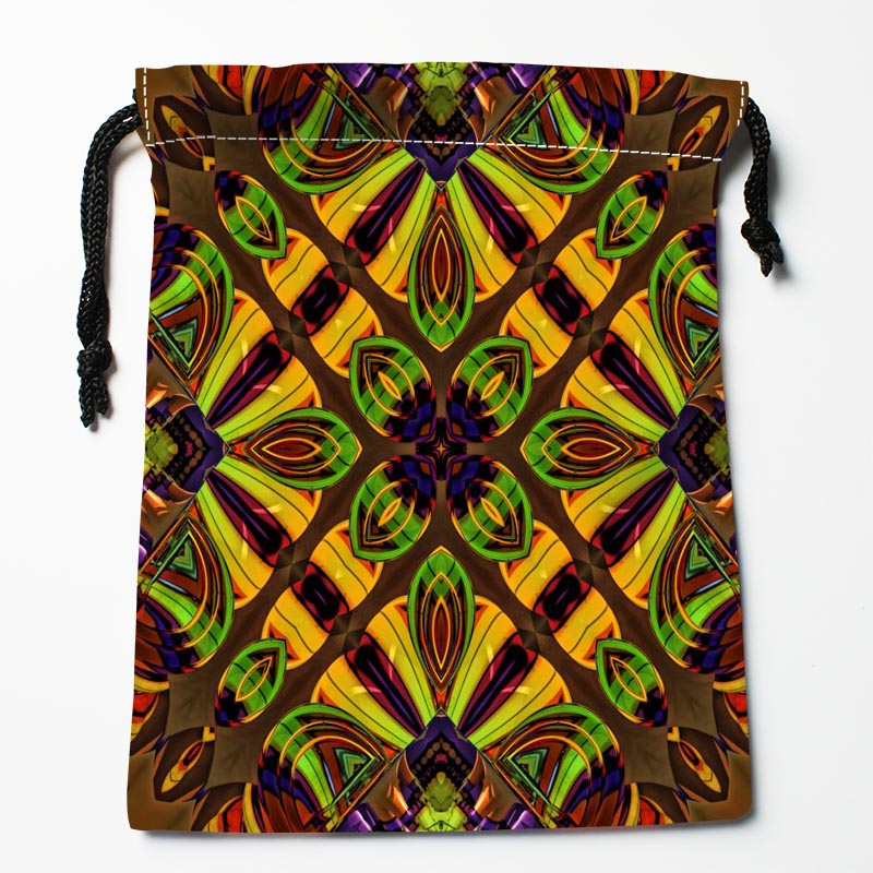 New Arrive Mandala Drawstring Bags Custom Storage Bags Printed Gift Bags More Size 27x35cm DIY Your Picture