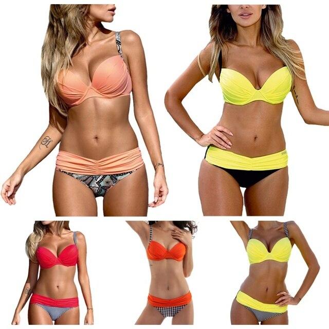 07b73e57a1651 2019 New Bikini Sexy Backless Summer Ladies Sexy Triangle Swimsuit Bikini