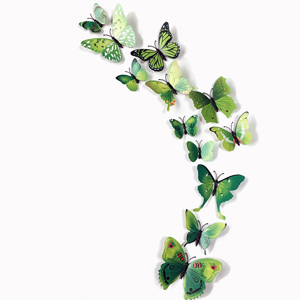 12pcs/Lot PVC Butterflies Wall Sticker Decals Stickers On The Wall Art Decals Home Decorations Poster Wallpaper For Living Room