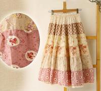 2014 New Summer Bohemia Floral Print Dresses Cotton Linen Full Dress Female Skirt National Trend Women