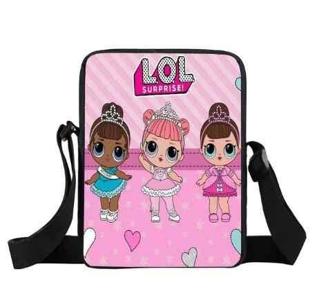 ccbcb65bab27 ... LOL Doll мини-сумка-мессенджер для детей забавные детские сумки через  плечо для женщин ...