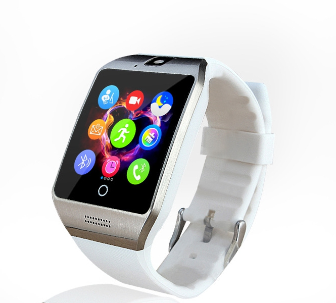 Smart watch with Touch Screen camera support SIM TF Card Connectivity Apple iphone Android Phone font