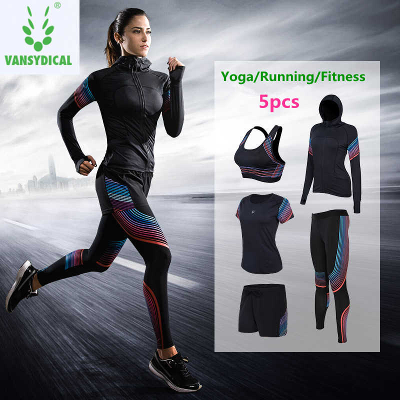 9c381062af Brand 2019 Gym Sports Suits Women's Yoga Clothes Set Running Tights Sportswear  Quick Dry Training Fitness
