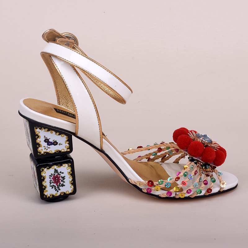 Detail Feedback Questions about New Luxury Print Flower Mahjong heel Women  Sandal Mixed Colors Open Toe Crystal High Heels Bling Wedding Party Shoes  Woman ... 977ae1d1d77f