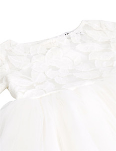 Image 4 - TiaoBug White Flower Girl Dress Princess Pageant Wedding Party Dress Birthday First Communion Ball Gown Lace Flower Girl Dress