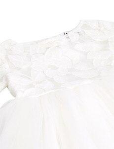 Image 4 - TiaoBugชุดสาวดอกไม้สีขาวปริ๊นเซประกวดพรรคชุดแต่งงานวันเกิดแรกร่วมบอลชุดลูกไม้ชุดสาวดอกไม้