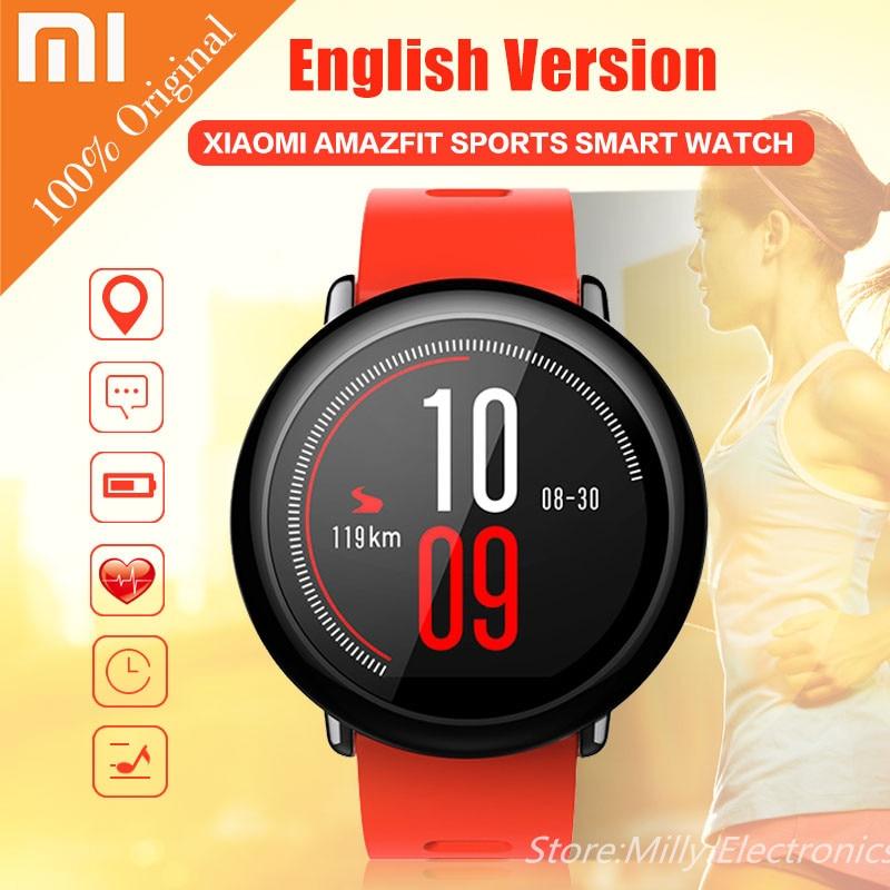 imágenes para [Versión en inglés] Xiaomi AMAZFIT Deportes Reloj Inteligente Bluetooth 4.0 WiFi Dual Core 512 MB 4 GB GPS Corazón tasa de SmartWatch Wristban