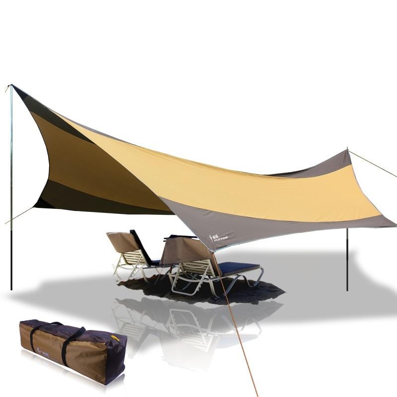 5.5m*5.6m large sun shelter awning outdoor picnic camping waterproof tarp beach tent (not including poles) large camping tent awning beach fishing hiking outdoor camping awning waterproof sunshade beach mat sun shelter 3x4m