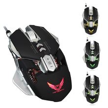 4000DPI Gaming Mouse X300 USB Optical Mechanical Profession Electronic Sports With 7 Button LED Wired Mouse Mice For Gamer