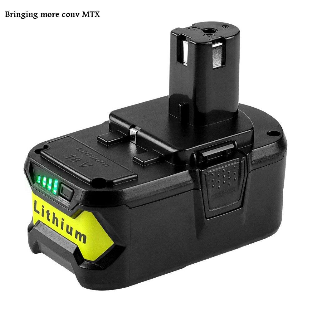Pour Ryobi 18 v 4000 mah/5000 mah P108 RB18L40 Au Lithium Ion Rechargeable Batterie Pack Outils Électriques Batterie Ryobi UN +