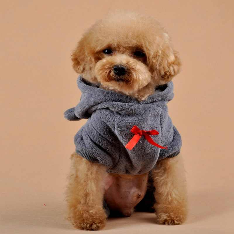 a1bd61d40 ... 2019 Stylish Pet Chihuahua Dog Clothes With Red Heart Coral Fleece  Clothes For Small Dogs Cats