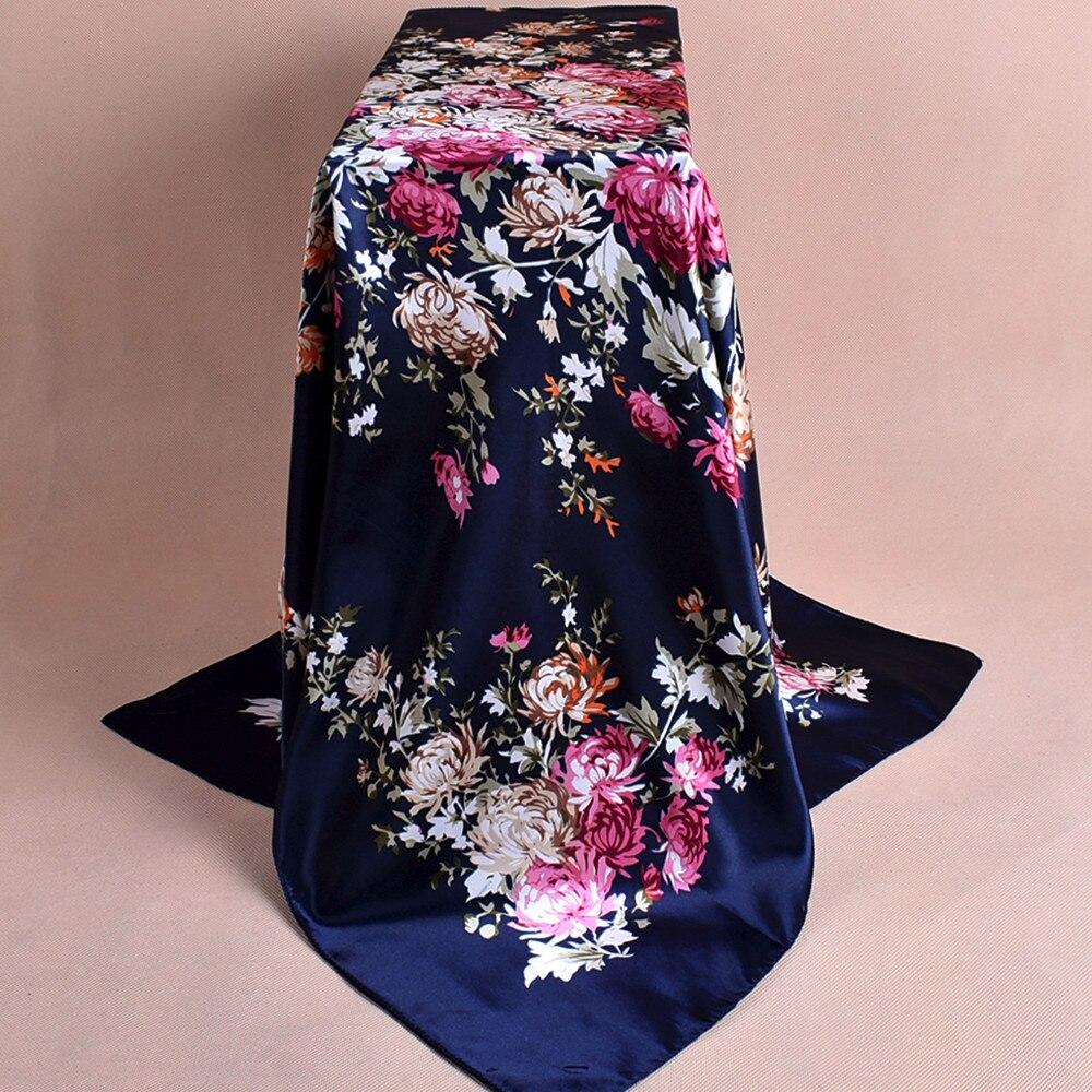 Fashion Women Scarf High Quality Hijab Silky Satin Shawl Scarfs Square Head Scarves Shawl Wraps Shawl Foulard foulard femme