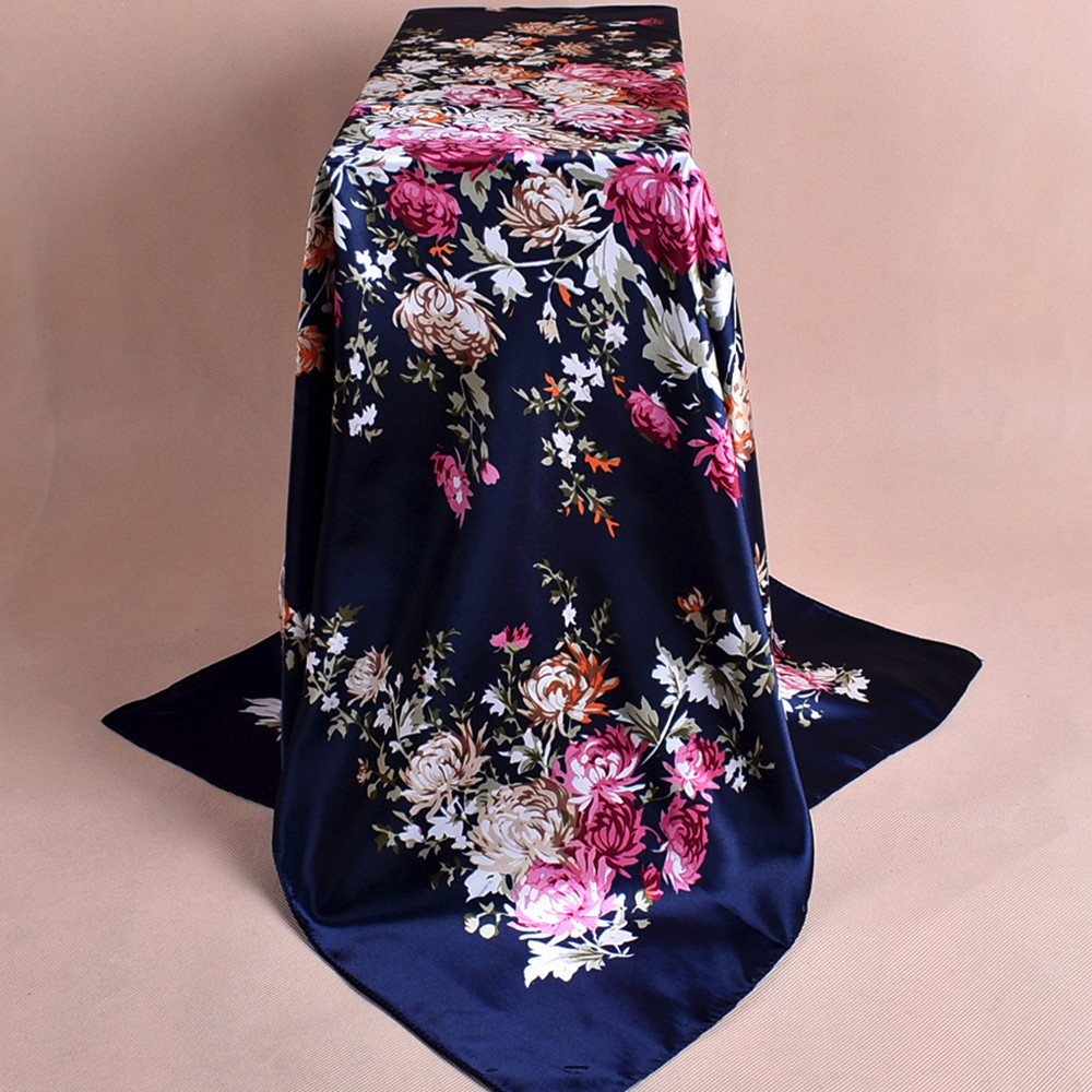 Fashion Women   Scarf   High Quality Hijab Silky Satin Shawl Scarfs Square Head   Scarves   Shawl   Wraps   Shawl Foulard foulard femme