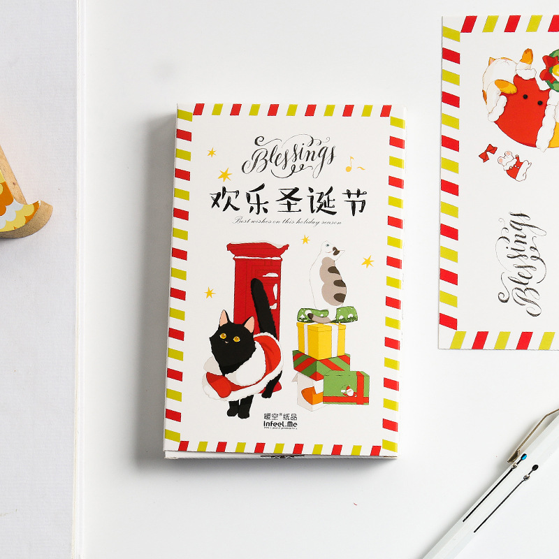 New 30 Sheets/Set Happy Christmas Postcard /Greeting Card/Message Card/Birthday Letter Envelope Gift Card