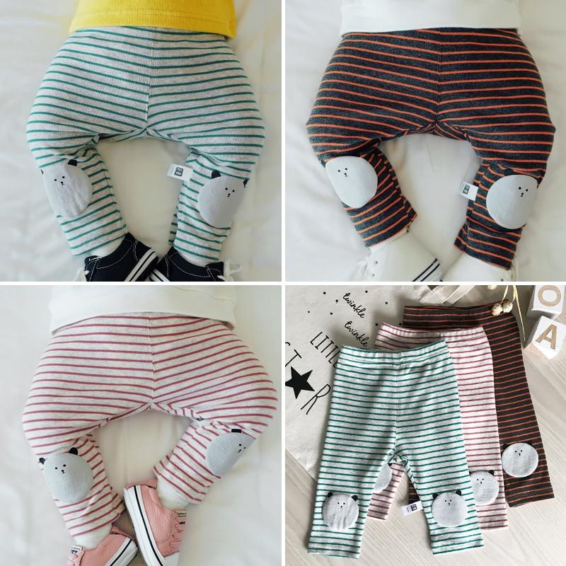 Lemonmiyu Cotton Pants Toddler-Trousers Newborn Autumn Girl Baby Casual Spring Striped