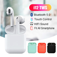 New I12 TWS Touch Control Pop UP Mini Wireless Bluetooth 5.0 Earphones Stereo Headset Pk I9S Tws for All IOS Android Smart Phone