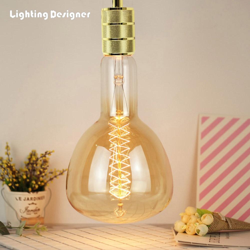 Big size ER160 ER52 vintage edison light bulb incandescent decorative bulb E40 220V 40W Filament antique retro Edison lamp