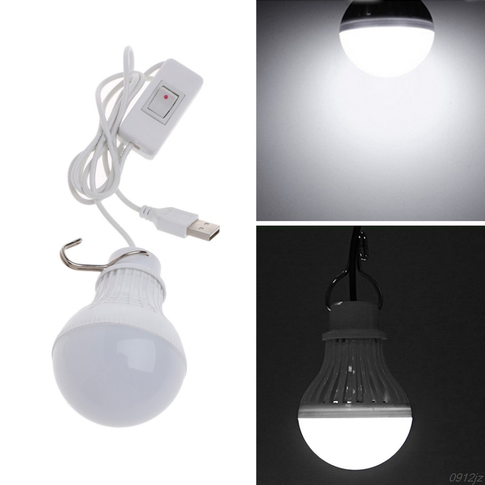 5W 10 LED Energy Saving USB Bulb Light Camping Home Night Lamp Hook Switch LED Bulbs Tubes New Drop ship