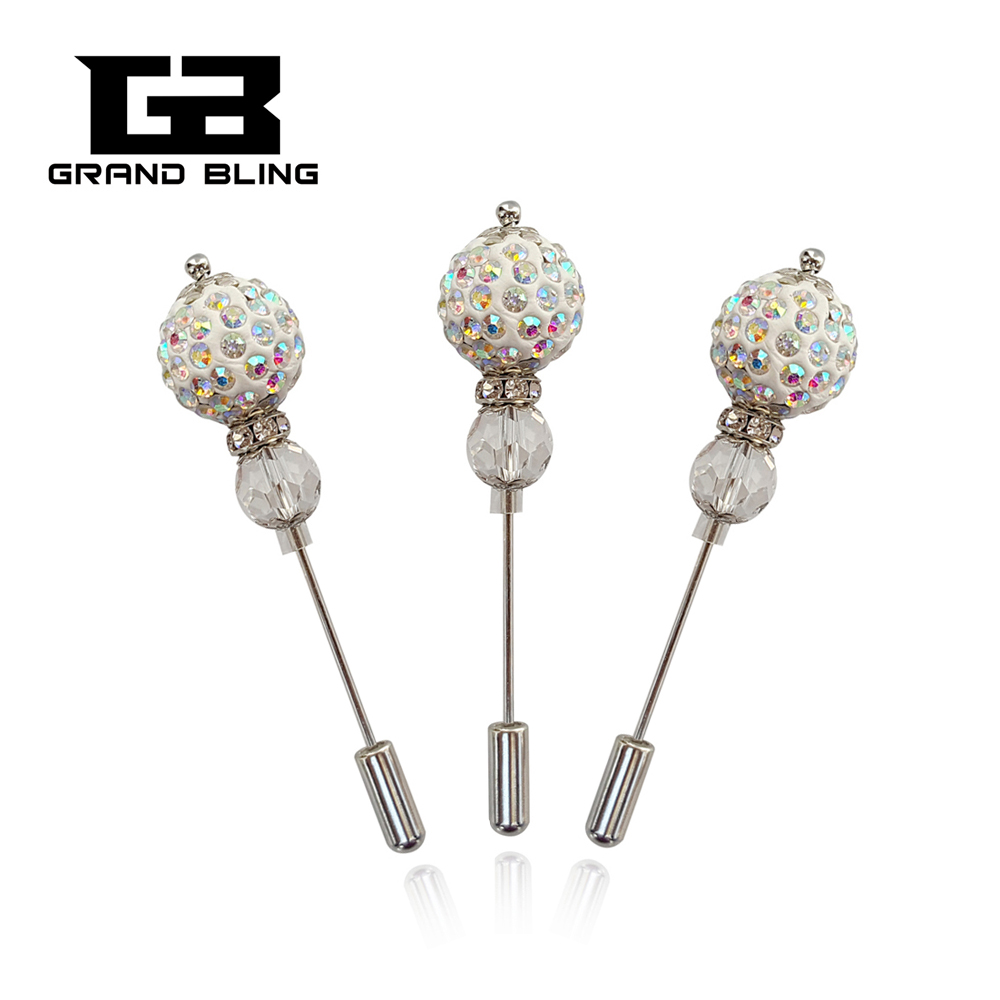AB Farge Rhinestone Ball Brosje Pin / Hijab Pin for Fashion Lady's Dress / Frakk / Gensere / Hat