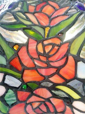 arte vidro rosa lampada sala estar lampada