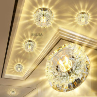 Flush Mount Small LED Ceiling Light For Art Gallery Decoration Front Balcony Lamp Porch Light Corridors