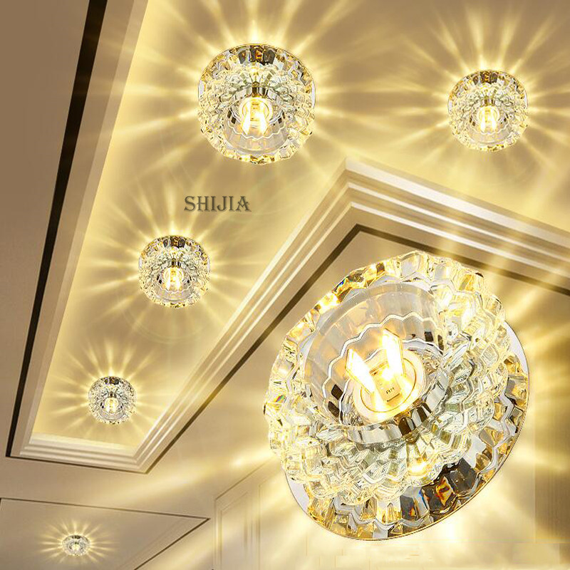 Best Bright Flush Mount Small LED Ceiling Light for Art Gallery Decoration Front Balcony lamp Porch light corridors Light Fixture