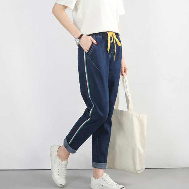 6c5b144b2d0 H 2018 Autumn Boyfriend Jeans Woman Unique Loose Jeans Plus Size Fall Winter  Jean Full Women Trousers Large Big Size 5XL XL