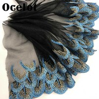Lace Fabric 20cm Embroidery Lace Trim Neckline Cuff Bottom Edge DIY Clothing Accessories For Sewing Decoration