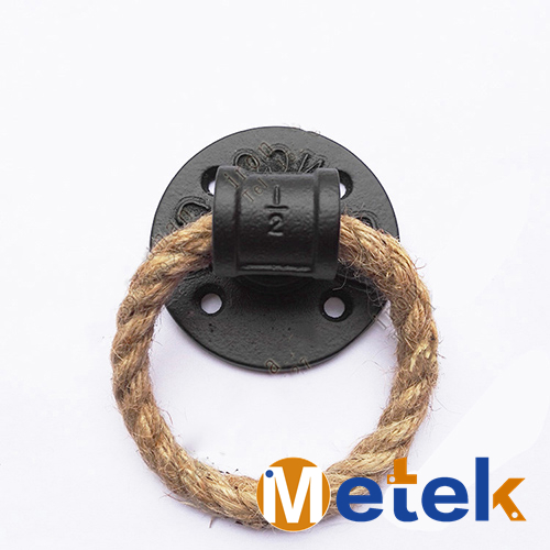 American Creative Pull Ring Door Knobs And Handles Wall Decoration Modern Black Iron Door Handles For Home And Furniture