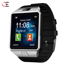 Brand LED Electronic intelligent Wristwatch Waterproof Sport Gold Smart Watch DZ09 Pedometer For iPhone Android Wrist