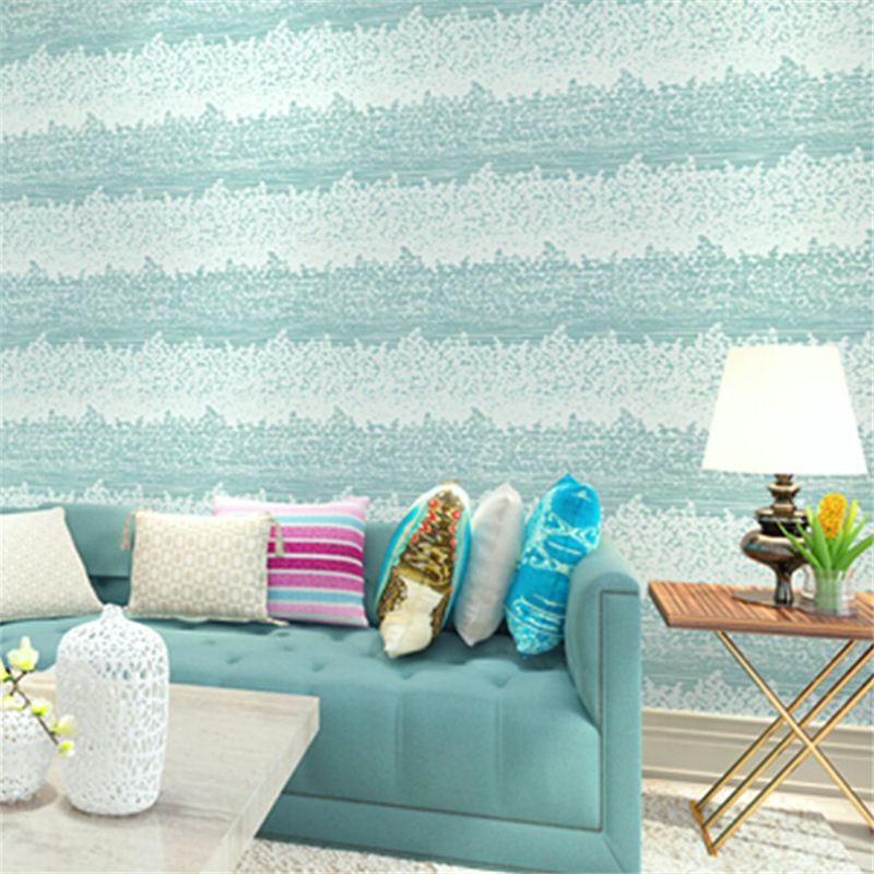beibehang New mottled horizontal stripes imported wallpaper nonwovens Mediterranean backdrop bedroom living room wallpaper beibehang shop for living room bedroom mediterranean wallpaper stripes wallpaper minimalist vertical stripes flocked wallpaper