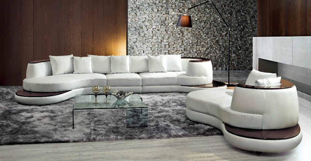 2018 New Arrival Top Fashion Beanbag Armchair Sofas For Living Room Sectional Sofa Sofa Set With Genuine Leather Corner Modern