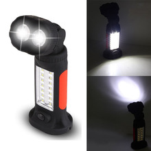Portabale LED Work Torch Lantern lamp Light Hanging Camp Camping Tent Bicycle Flashlights with Magnet Rotating Hook