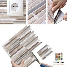 Vividtiles Wood Pattern Easy to DIY Self Adhesive Backsplash Vinyl Wallpaper 3D Peel and Stick Wall Tiles