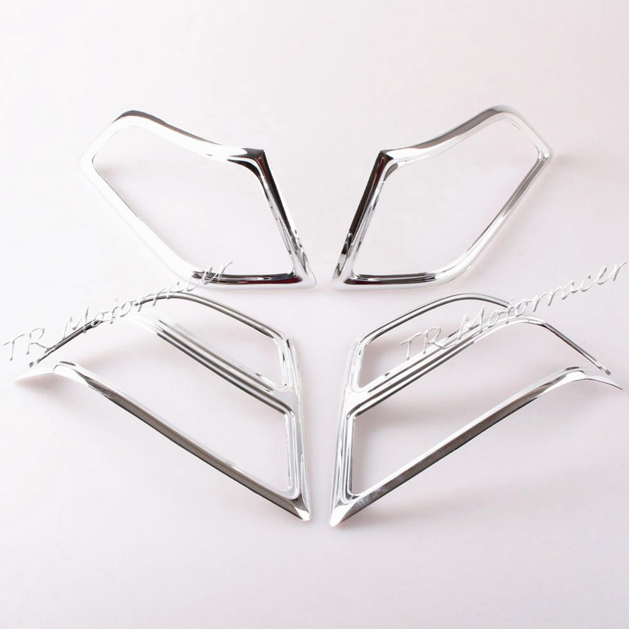 Chrome Goldwing Fairing Saddlebag Light Accents For Honda GL1800 2001-2005 03 04 Motorcycle Accessories show chrome accessories 52 612 saddlebag molding insert