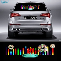 90*25cm Dancer fireworks Flash Car Sticker Music Rhythm LED EL Sheet Light Lamp Sound Music Activated Equalizer