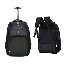 Letrend New Fashion Business Travel Bag Men Carry On Capacity Backpack Women Rolling Luggage Trolley Bag Boarding Box Trunk