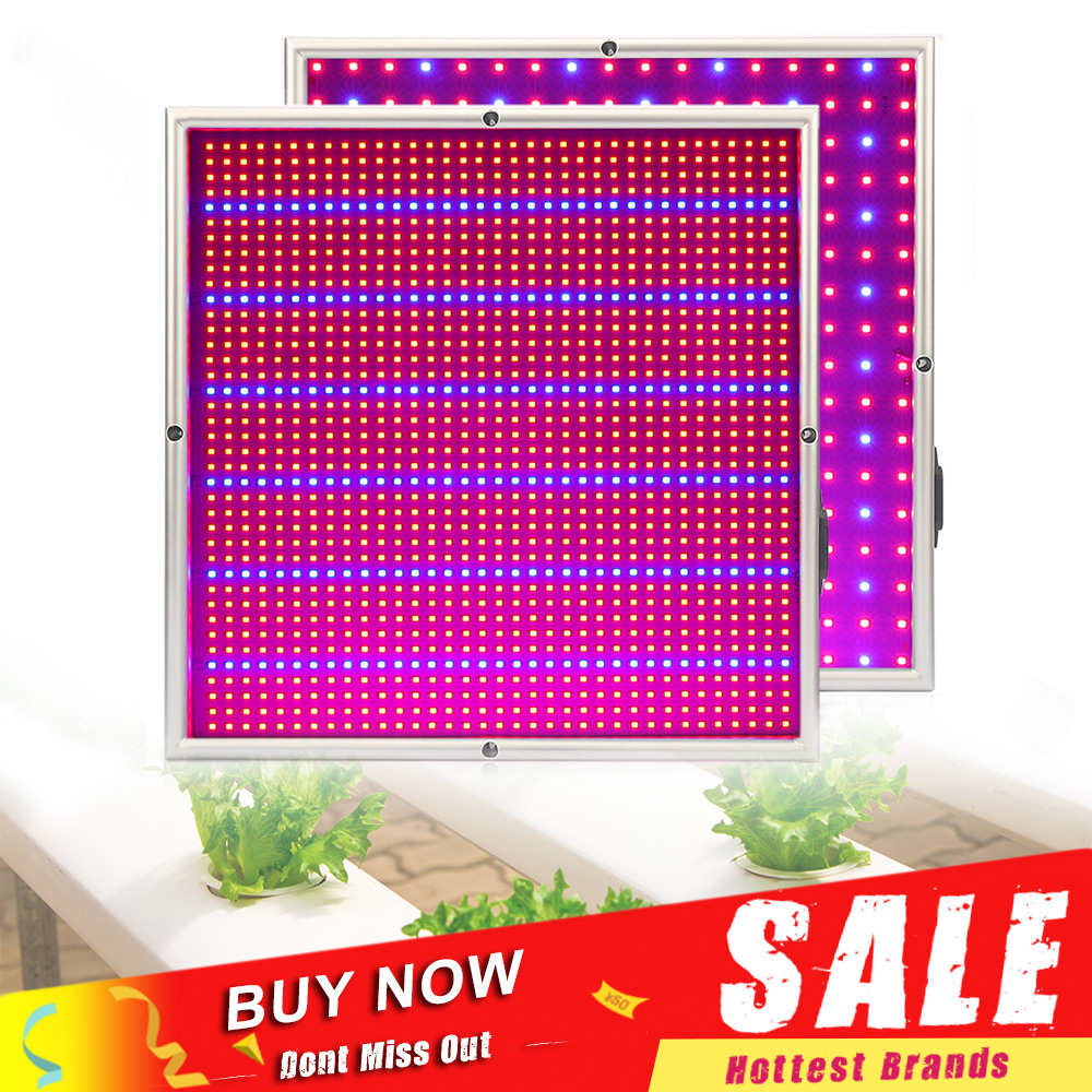 (20W:289leds) (120W:1365leds) Red 640nm 680nm & Blue 460nm 480nm Plane LED Plant Grow Light 120w 55 led blue