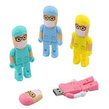 Doctor Nurse model USB 2.0 Flash Memory 4GB 8GB 16GB 32GB 64GB