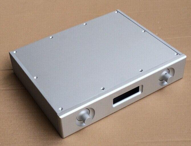 NEW ES9018 DAC Decoder box Full Aluminum Power amplifier case DAC chassis bz4307d full aluminum chassis panel decoder dac box power amplifier case size 430 70 308mm