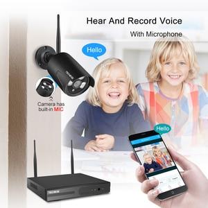 Image 5 - Techege H.265 8CH 1080P sistema de cámara de Audio 2MP cámara de seguridad de vigilancia al aire libre impermeable inalámbrico IP cámara de vídeo Kit