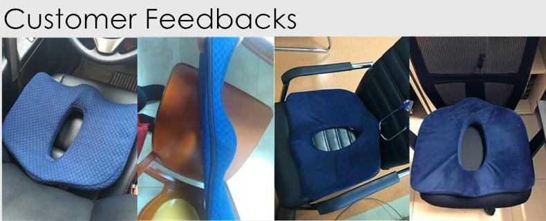 PurenLatex 45*40 Orthopedic Coccyx Memory Foam Chair Car Seat Cushion Pillow Pad Wheelchair Mats For Postpartum Hemorrhoid Treat