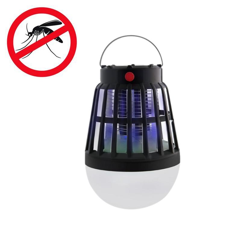 Accesorios De Tienda Al Aire Libre Linterna Luz Mosquito Killer Usb Recargable Lámpara Solar Accesorios De Tienda