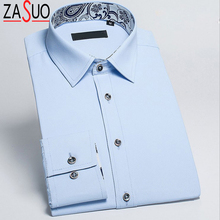 2016 New Men Fashion Long Sleeve Slim Shirts Pure Cotton Twill Shirts Clothes Casual Men High Quality Mens Dress Shirts