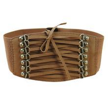 european style trench velvet retro rivet tassel wide cummerbund strap belt waist  women accessories