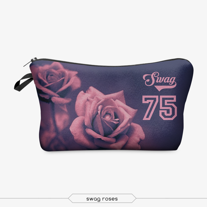 Jom Tokoy 3D Printing Makeup Bags With Multicolor Pattern Cute Cosmetics Pouchs For Travel Ladies Pouch Women Cosmetic Bag 13