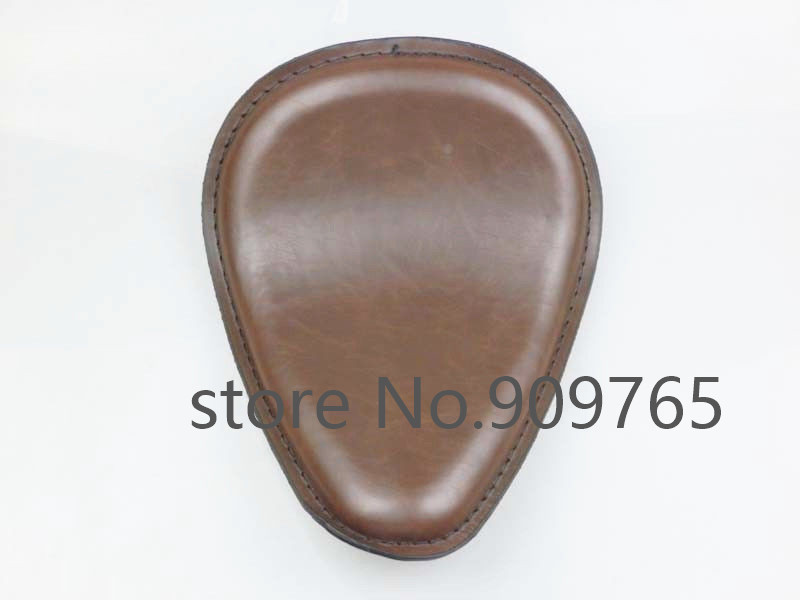 Brown Vintage Retro Motorcycle Leather Solo Seat Chopper Bobber Old Shool Custom CB XL 22 bobber cafe oldschool chopper