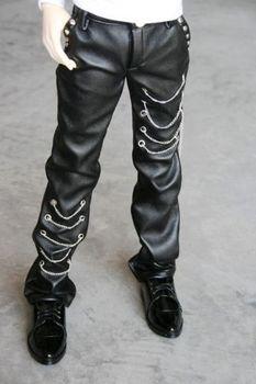 [ Wamami ] 77 черные кожаные брюки / брюки 1/4 MSD DZ DOD бжд Dollfie