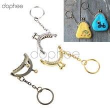 d43460be6 Dophee 5 piezas 4 cm arco monedero bolsa estructura de Metal elegante 3  colores con cadena para señora bolso